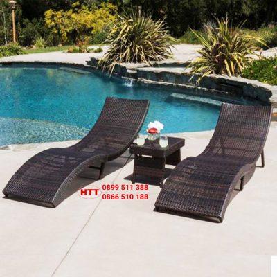 Mẫu giường tắm nắng hồ bơi