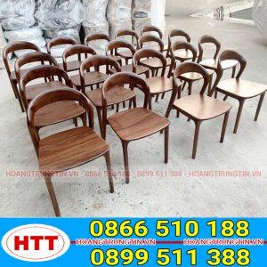 Ghế gỗ neva không tay màu sắc sang trọng và tinh tế