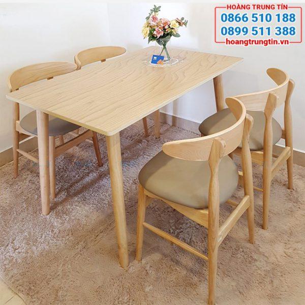 Bàn ghế gỗ cafe bọc đệm