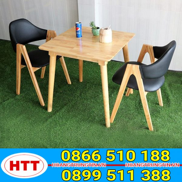 Bàn ghế cafe gỗ chữ A