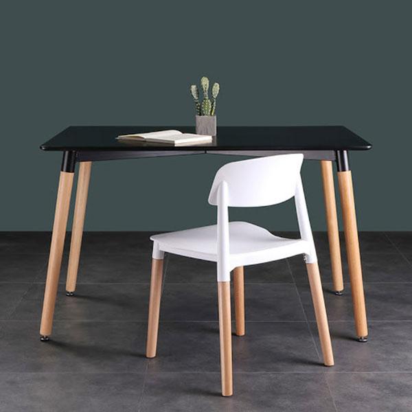 Bàn cafe chân gỗ thiết kế trẻ trung