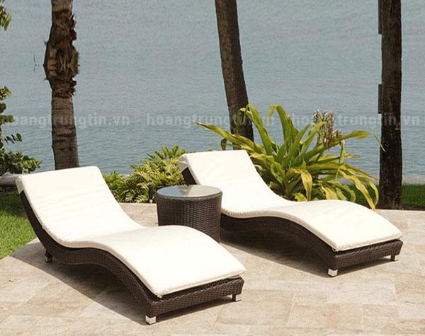 Bàn ghế khách sạn - resort - Ghế hồ bơi GHBHTT001