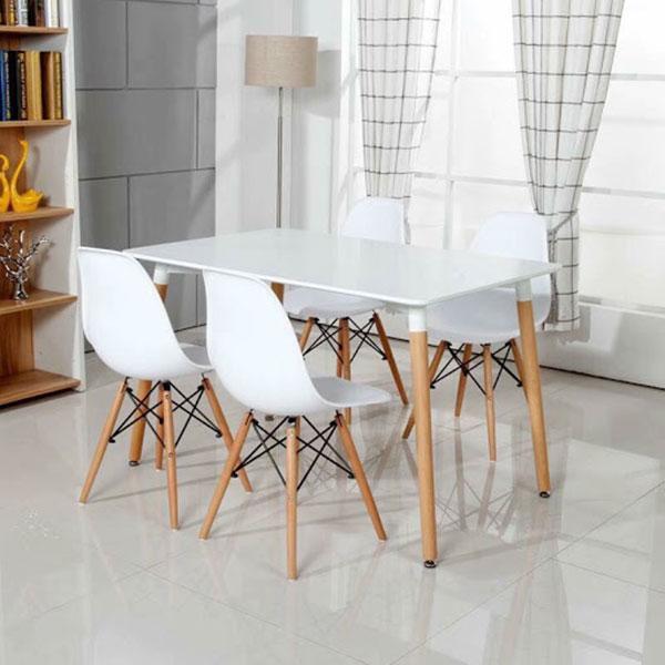 Bàn ghế nhựa trà sữa chân gỗ