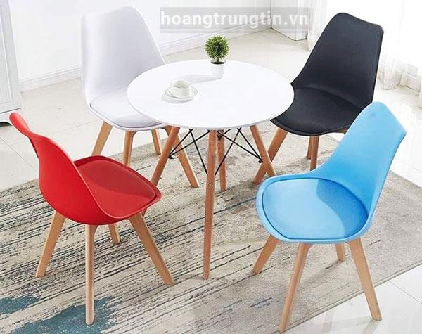 Bàn ghế nhựa trà sữa kết hợp đệm ngồi BGTSHTT006