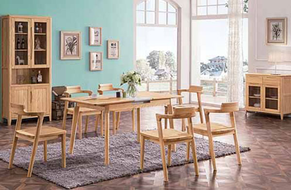 Bàn ghế phòng ăn từ chất liệu gỗ