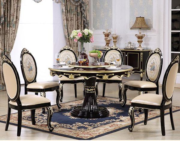Bàn ghế phòng ăn phong cách tân cổ điển