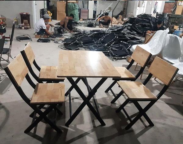 Bàn ghế quán ăn, quán nhậu nhỏ gọn