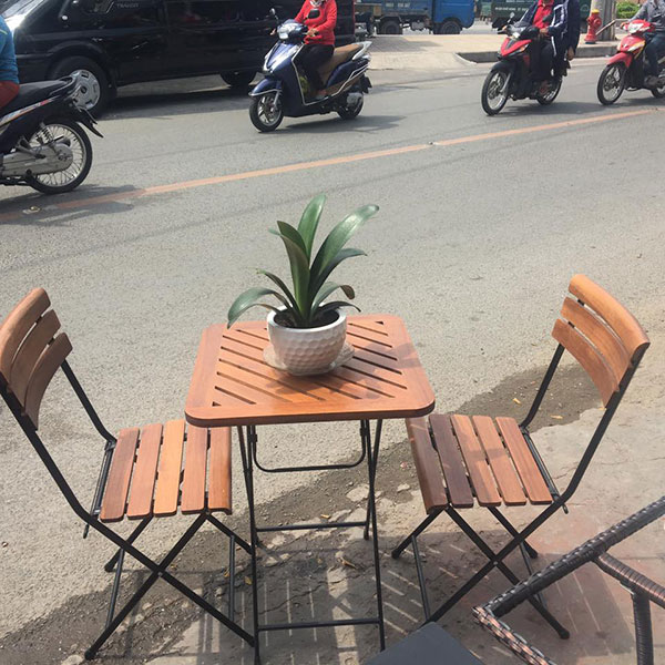 Bàn ghế xếp cafe đẹp