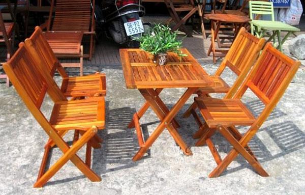 Bàn ghế xếp cafe độc đáo