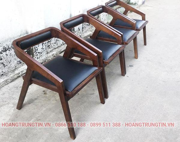 Ghế cafe chất liệu gỗ
