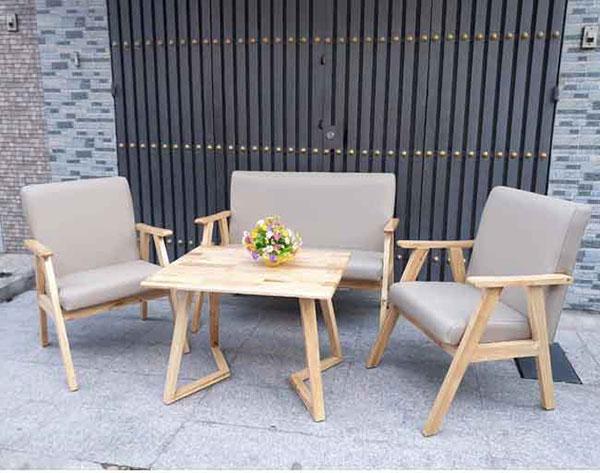 Sofa cafe từ chất liệu gỗ
