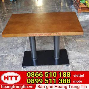 bàn cafe cho sofa chân sắt mặt gỗ