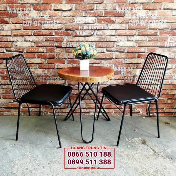 bàn ghế sắt quán trà sữa