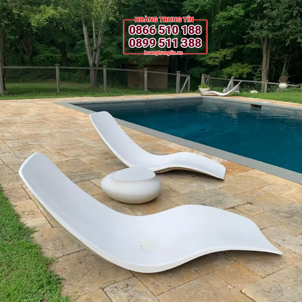 ghế hồ bơi nhựa composite đẹp