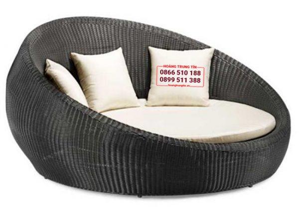 giường tắm nắng nhựa giả mây ghế đôi 2 -3 người ngồi